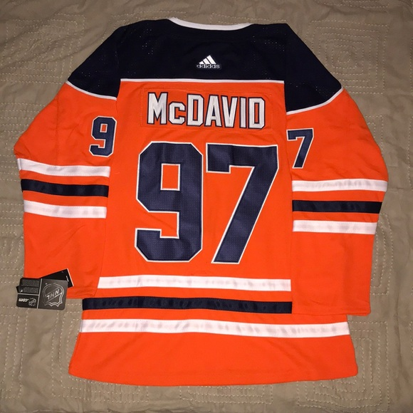 sports shoes 4fdc5 2093c Connor McDavid Edmonton Oilers Adidas Jersey NWT